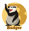 abc cartoon badger vector image vector image