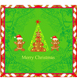 Abstract card with Christmas gingerbread tree vector image vector image