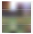Abstract unfocused natural headers set blurred vector image vector image