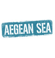 aegean sea sign or stamp vector image vector image
