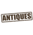 antiques stamp vector image vector image