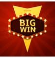 Big win retro banner vector image vector image