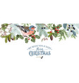 bird christmas border vector image vector image