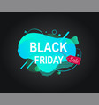 black friday sale discounts for weekends banner vector image