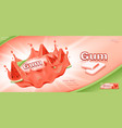 bubble gum ads template vector image vector image