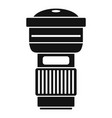 camera lens icon simple style vector image vector image