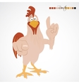 Cartoon funny rooster vector image vector image
