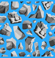 cartoon rocks and stones background pattern on a vector image