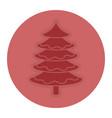 christmas pine tree icon vector image vector image
