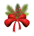 christmas season floral decoration vector image vector image