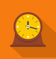clock vintage icon flat style vector image