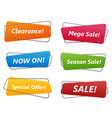collection sale banner vector image