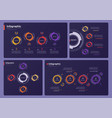collection various infographic templates vector image vector image