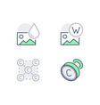 copyright line icons included vector image vector image