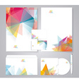 Corporate identity template with color geometric vector image vector image