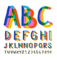 Creative colorful alphabet and numbers vector image vector image