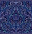 dark paisley seamless pattern original colorful vector image vector image