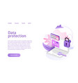 data protection concept business marketing vector image
