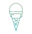 delicious ice cream icon vector image vector image