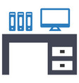 desk workplace office icon vector image vector image