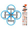 drone screws icon with dating bonus vector image vector image