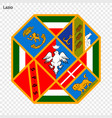 emblem province of italy vector image vector image