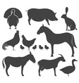 Farm Animal Silhouette vector image