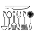figure kitchen tools icon image vector image vector image