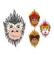 Fire monkey 2016 vector image vector image