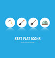 flat icon farm set of spade shovel cutter and vector image vector image