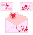 floral envelopes vector image