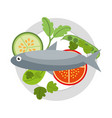 food fresh healthy vector image