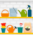 garden tool concept background flat style vector image