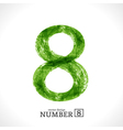 Grunge Number 8 vector image vector image