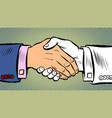 handshake deal business agreement vector image vector image