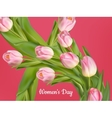 Happy Women s Day card EPS 10 vector image vector image