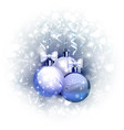 holiday blue background with christmas baubles vector image vector image