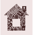 house made of houses vector image