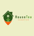 house tea pointer logo template design vector image vector image