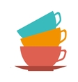icon cup coffee kitchen utensil isolated vector image vector image