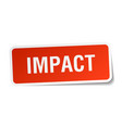 impact square sticker on white vector image vector image