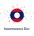 independence day of laos patriotic banner vector image vector image