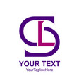 initial letter sl or ls logo design template vector image