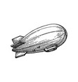 ink sketch blimp vector image