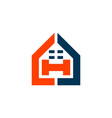letter h home residence logo icon vector image vector image