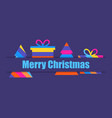merry christmas multi colored christmas tree and vector image vector image
