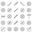no knife outline restriction icons do not use vector image