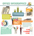 office orthogonal infographics vector image vector image