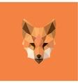 Orange Fox head Polygon Design style f modern logo vector image vector image