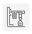 overhead crane icon vector image vector image